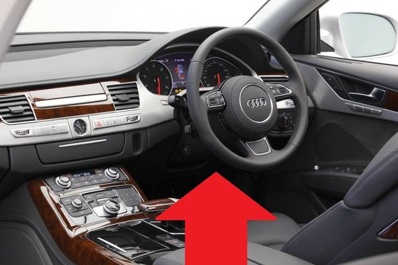 Audi A8 D4 diagnostic obd2 port location picture